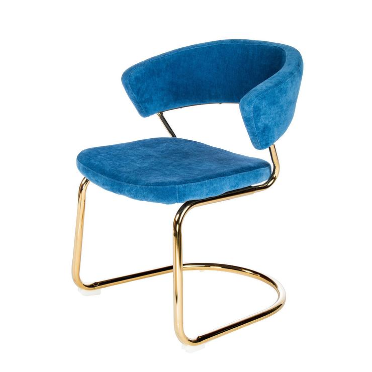 Blue Upholstered Accent Chair
