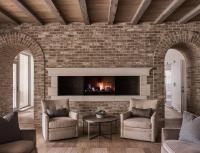 Full Brick Wall Fireplace - Fireplace Ideas