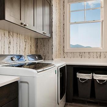 Shaker Laundry Room Cabinets Design Ideas