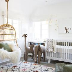 Hanging Rattan Chair Bean Bag Covers Only Ethereal Nursery With Transitional