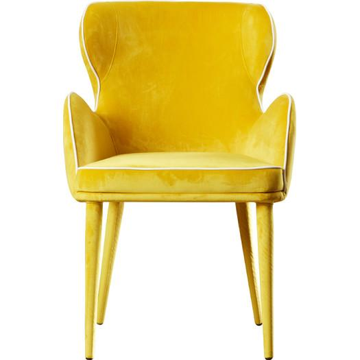 Grieco Eclectic Yellow Arm Chair