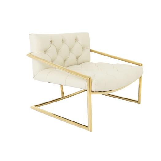 white and gold chair ghost armless hampton tufted frame arm