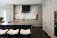 Light Gray Kitchen Cabinets with Charcoal Gray Quartz ...
