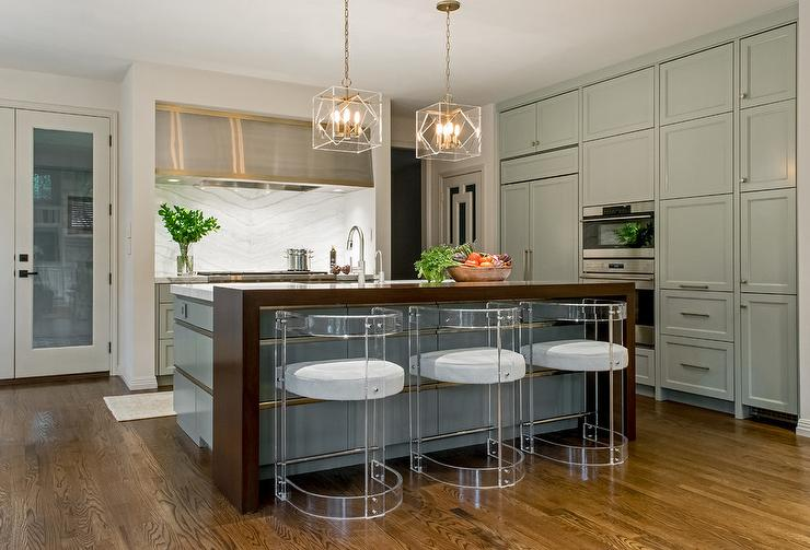 kitchen faucet stainless steel islands lowes hood with gold trim - contemporary ...