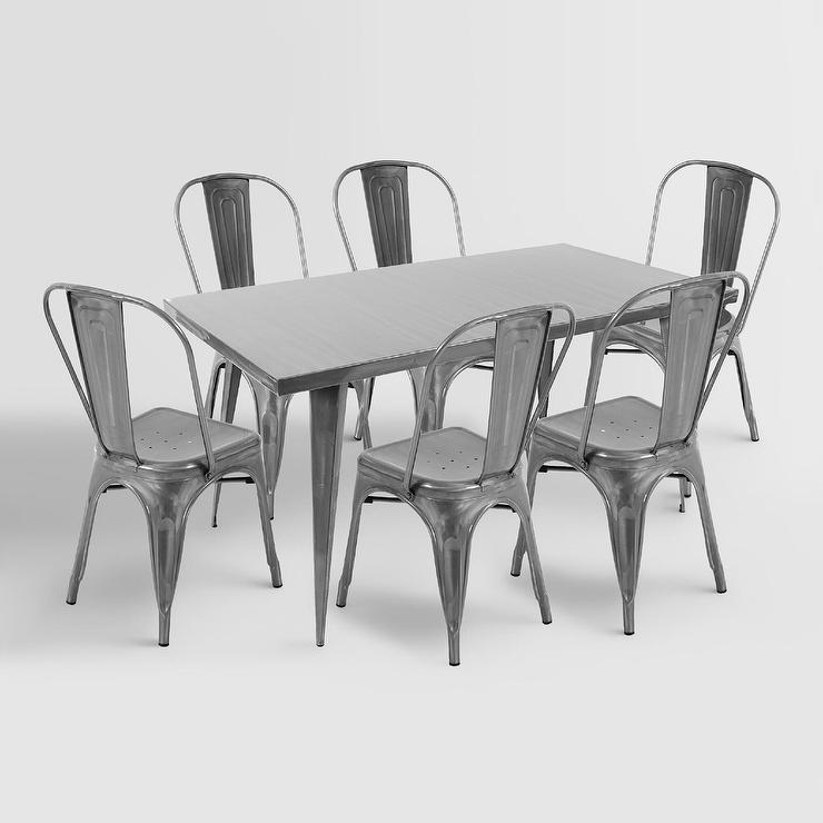 metal farmhouse chairs acapulco chair bunnings talise dining table