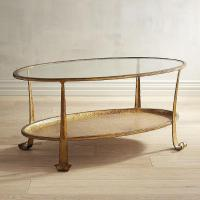 Gold Oval Glass Coffee Table - Home Ideas