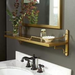 Blue Kitchen Sink Grohe Faucets Lowes Bastille Gold Wine Shelf