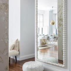 Full Size Mirror In Living Room Ikea Small Chairs White Moroccan Leather Pouf With Herringbone Jute Rug Transitional Pin It On Pinterest View