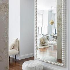 Full Length Mirror In Living Room Photos Of Rooms With Dark Wood Floors White Wall Design Ideas Moroccan Leather Pouf Herringbone Jute Rug View Size Welcoming