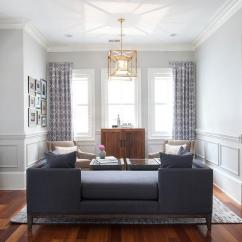 Photos Of Curtains In Living Rooms Red Accent Wall Room Navy Blue Tete A Sofa - Transitional