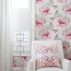 Glider Chair Accessories High Back Patio Covers Pink And Gray Nursery Accent Wall - Transitional