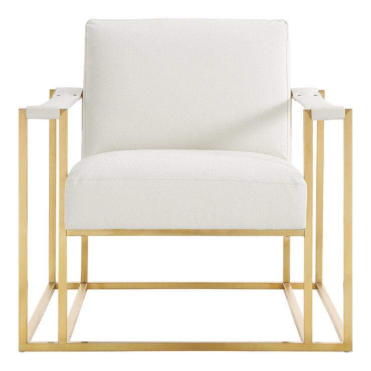 steel chair gold memory foam bed uk baxter cream faux leather