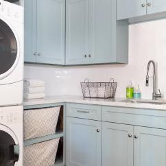 Wallpaper Kitchen Backsplash Led Lighting Blue Laundry Room Cabinets With Carrera Marble ...