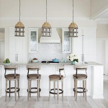 Charcoal Gray KItchen Island Cottage Kitchen Margot