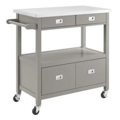 Kitchen Island Cart Target Granite Top Breakfast Bar Stainless-steel Accessories - Pottery Barn