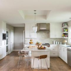 Farmhouse Tables And Chairs Small Bistro Table Outdoor White Kitchen With Light Gray Cement Tile Backsplash - Transitional