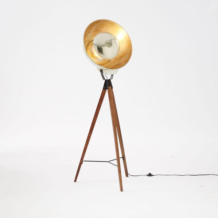 Black Metal Photographers Tripod Floor Lamp