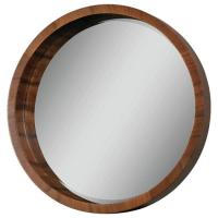 Ren Wil Lucerne Round Wood Mirror