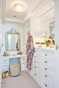 Glam Walk In Closet with Venetian Mirror - Transitional ...