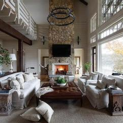 Country Living Rooms With Fireplaces Room Stone Fireplace Design Ideas Two Storay 2 Tier Iron Candelabra Chandelier