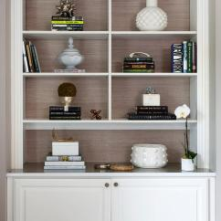 Light Grey Living Room Decor House Beautiful Designs Styled Shelves With Gold Accents ...