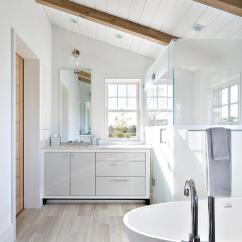 Beadboard Chair Rail Stool Walmart Bathroom Sloped Ceiling Design Ideas