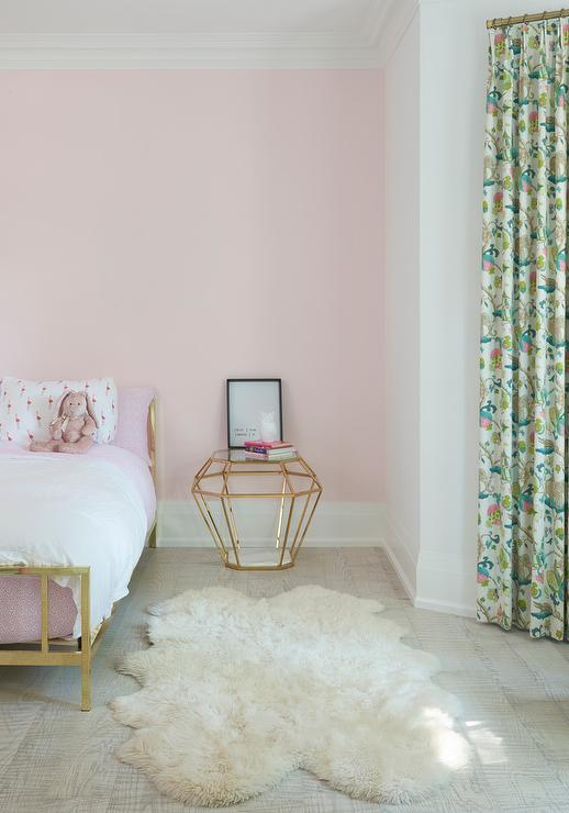 Pink and Gold Girl Bedroom  Transitional  Girls Room