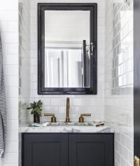 Black Medicine Cabinet with Black Bath Vanity ...
