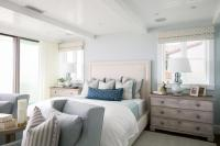 Blue and Gray Beach Cottage Bedroom - Cottage - Bedroom
