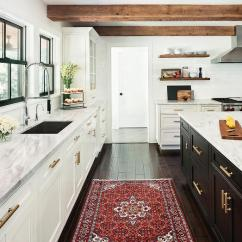 Red Kitchen Rugs Shabby Chic Cabinets Rug Transitional