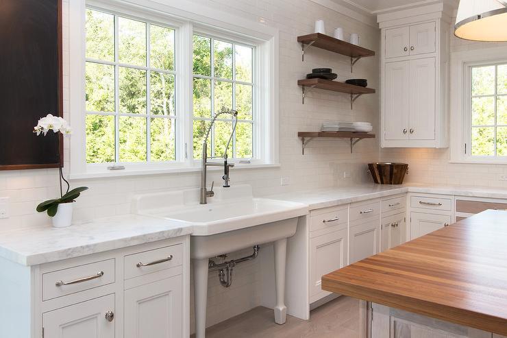 vintage kitchen sink wine racks freestanding under windows transitional