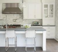 Honed Gray Granite Countertops - Transitional - Kitchen