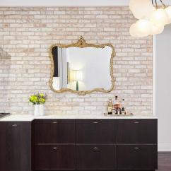 Ikea Stainless Steel Shelves For Kitchen Log Home Islands White Exposed Brick Backsplash Design Ideas