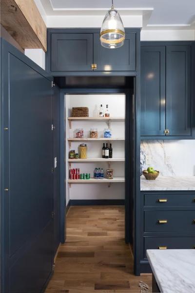 hidden kitchen pantry cabinets Walk In Kitchen Pantry Hidden Behind Cabinet Doors