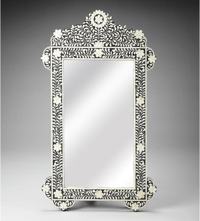 gray chair slipcover pee wee herman blue floral bone inlay mirror