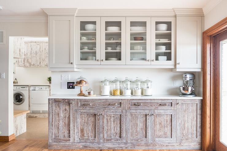 Knotty Brown Ash Wood Cabinets Transitional Kitchen