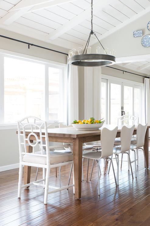 oak and white dining chairs hay about a chair table with transitional room