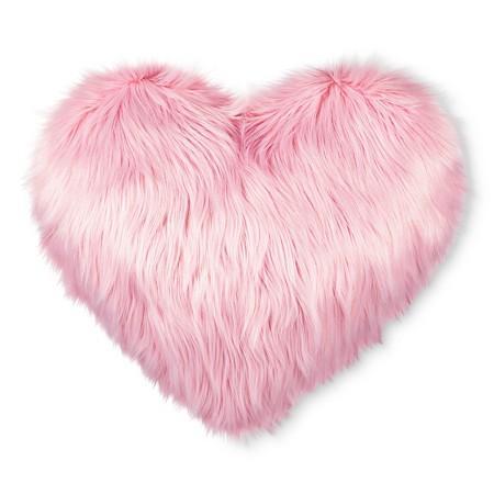 Bonjour Pink Heart Pillow