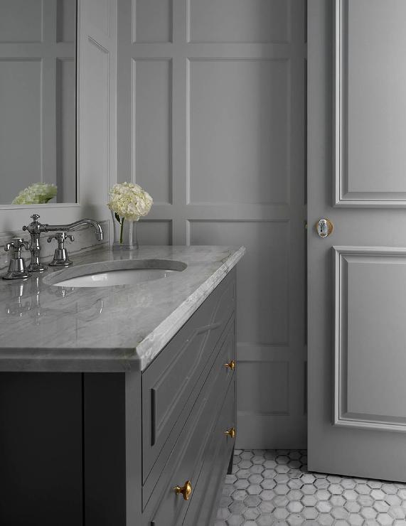 All Gray Bathroom