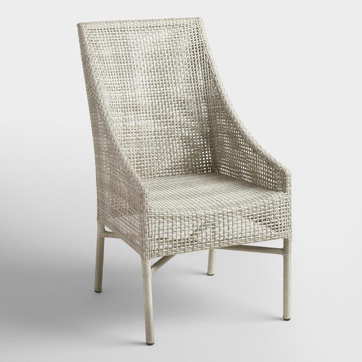 Gray All Weather Wicker Dining Chairs