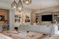 Staggered Pendants Over Pool Table - Transitional - Living ...