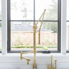 Brass Faucet Kitchen The Home And Store Vintage Polished Swing Arm With Sink