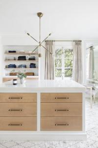 Jean Shelves Over Built In Dresser - Contemporary - Closet