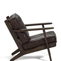 Distressed Adirondack Chairs Beach Chair With Backpack Straps Landon Oak Frame Dark Leather