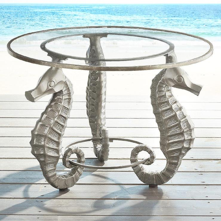 Seahorse Champagne Glass Accent Table