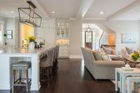 Open Kitchen And Living Room Grey - Modern home design ideas