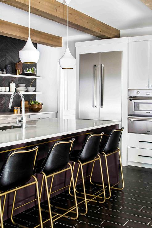 kitchen island lights planning a gold and black barstools with white tom dixon beat ...