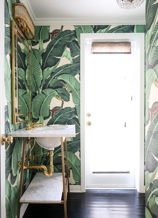 Banana Leaf Wallpaper Bathroom Jidileaf Co