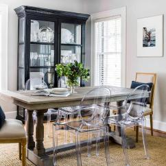 Gray Dining Chair Best Computer Gaming Chairs Willems Rectangular Table With Ghost - Transitional Room