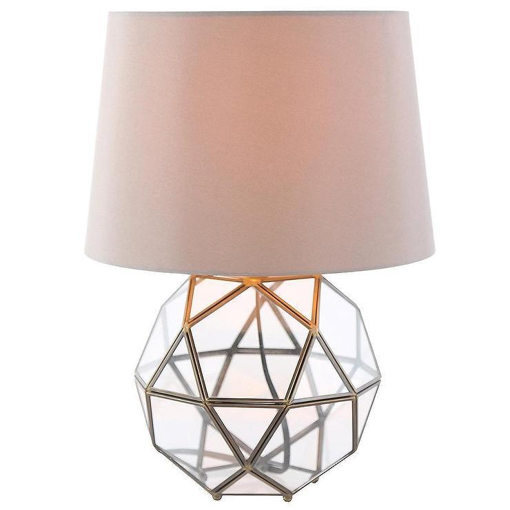 Industrial Metal Glass High Orb Table Lamp